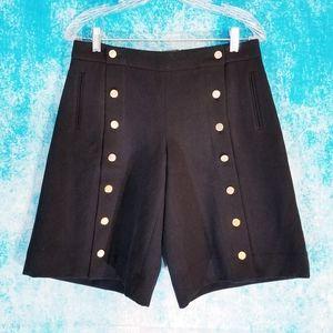 Anthro Elevenses Military Style High Waist Shorts